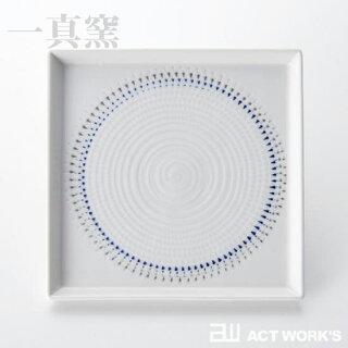 《全2色》一真窯色染絆スクウェア皿13.5cm