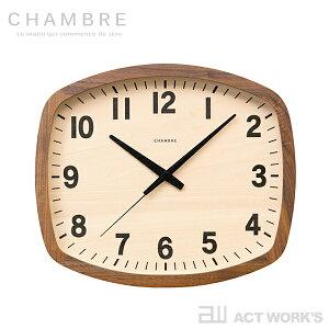 CHAMBRE R-SQUARE CLOCK WALNUT 掛け時計 R-スクエアクロック ウォルナット 電波時計 【シャンブル デザイン雑貨 壁掛け時計 インテアリア 北欧 interzero インターゼロ ウォールクロック 英国 ブリティ