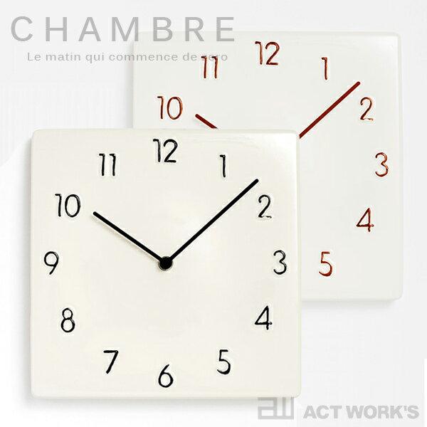 《全2色》CHAMBRE CERAMIC WALL CLOCK 掛け時計 セラミックウォールクロック 【シャンブル デザイン雑貨 インテアリア interzero インターゼロ 瀬戸物】