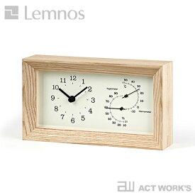 《全2色》LEMNOS FRAME 温湿度計付き置き時計 フレーム 【タカタレムノス デザイン雑貨 温度計 湿度計 気温 室温 空気 乾燥 熱中症対策 スタイリッシュ インテアリア 北欧】