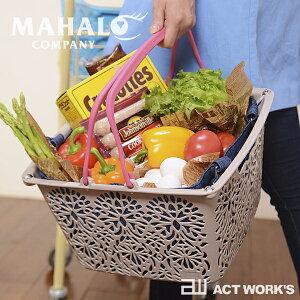 《全6色》MAHALO BASKET Li'i マハロバスケット リィ(選べるカラー2個セット) 【マハロカンパニー デザイン雑貨 北欧 買い物かご ランゴリー インテリア 収納 ストレージ 洗濯カゴ 洗濯物 アウ