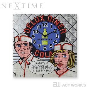 NEXTIME Delux Diner デラックスダイナー 壁掛け時計 【デザイン雑貨 ウォールクロック スタイリッシュ インテアリア 北欧 ナチュラル リビング ダイニング キッチン オフィス 店舗】