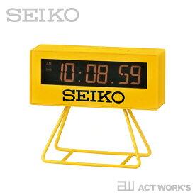 SEIKO スポーツミニタイマークロック SQ815Y 【セイコー デザイン雑貨 インテリア オフィス 置時計 シンプル 置き時計 陸上競技場 ミニクロック 目覚まし時計 アラームクロック】