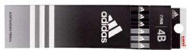 【三菱鉛筆】紙箱級 鉛筆 アディダス 5588 6角 黒 1ダース