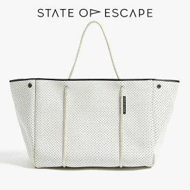 ステイト オブ エスケープ ESCAPE BAG 新色 IVORY アイボリー State of Escape トートバッグ 大容量 ロンハーマン 取扱 マザーズバッグ / ステイトオブエスケープ /人気 / メンズ / レディース