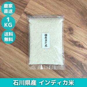 石川県産 タイ米 国産 インディカ米 お試し 1kg ジャスミン米 香り米 長粒種米 プリンセスサリー お米 ジャスミンライス 送料無料