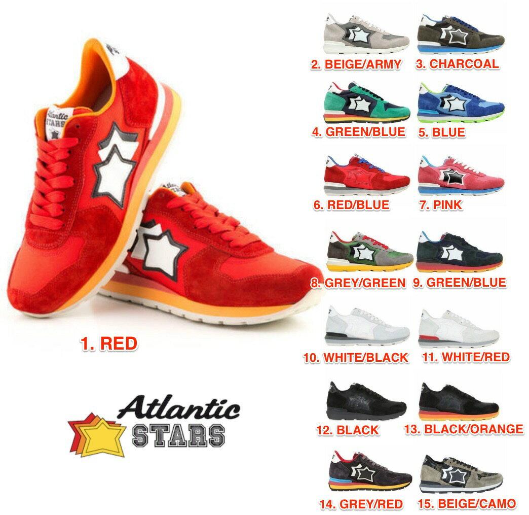 アトランティックスターズ Atlantic STARS 全15色 メンズ スニーカー レッド ブルー グリーン グレー チャコール ピンク ブラック カーキ ホワイト アンタレス 雑誌掲載モデル