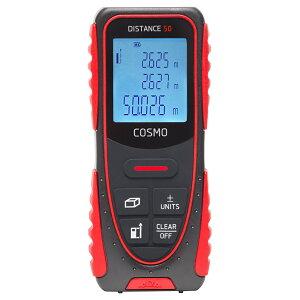 レーザー距離計 COSMO 50 DISTO 50m マキタ ボッシュ ライカ スコープ距離計 距離測定器 計量 建築用品 測量用品 大工用 内装業者用 測距 小型 プロ仕様 高精度 面積 体積 ピタゴラス測定 単回 連