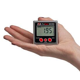 デジタル水平器 プロデジマイクロ 加速度センサー搭載 測量用品 計測 レベル 水平器 デジタル水平器 0.05° IP54 測定器 アングルメーター °/%切り替え 測定 部磁石付き 比較モード0セット ホールド 送料無料