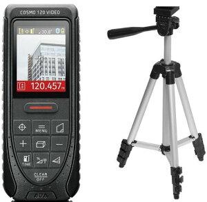 レーザ?距離計 COSMO120ビデオ リチウム電池仕様エレベーター三脚付き DISTO 100m デジタルカメラ 角度センサー カラーファインダー 自動ピント調整 スコープ 距離測定器 測量 大工 内装 高精度
