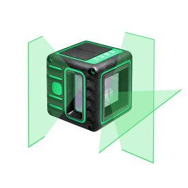 グリーン レーザー墨出し器 キューブプロ2V1H エレベーター三脚付き 受光器(別売りLR60G)対応 高輝度 レーザーレベル 墨出器 測定器 オートラインレーザー レーザーライン 墨出しレーザー 自動補正 小型 墨出し機 レーザー水平器 送料無料