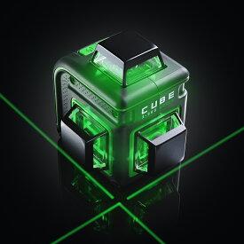 グリーン レーザー墨出し器 円錐ミラーキューブフルライン3ー360G ベーシック バッテリー仕様 受光器(別売りLR60G)対応 レーザーレベル 墨出器 オートラインレーザー レーザーライン 大矩 4V4HD 墨出しレーザー レーザー水平器 墨出し機 送料無料 あす楽対応