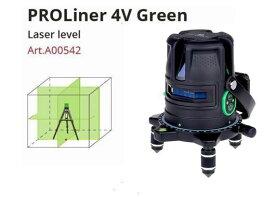 グリーンレーザー墨出し器 プロライナー4VH180°G バッテリー仕様 受光器(別売りLR60G)対応 高輝度 4V1HD レーザーレベル 水平器 測定器 大矩 オートラインレーザー レーザーライン 墨出しレーザー 自動レベル 小型 墨出し機 レーザー水平器 送料無料 あす楽