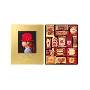 内祝い お返し 送料無料 お礼 ギフト 洋菓子 赤い帽子 ゴールド 16469