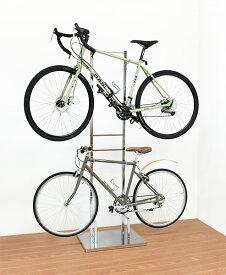 【送料無料】室内自転車スタンド 2台用