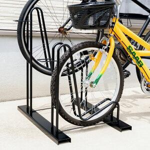 スタンドいらずの頑丈自転車ラック2台用