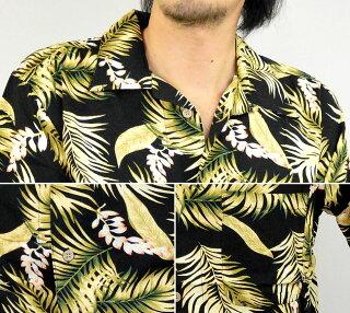 アロハシャツ【RB-0708】アロハシャツメンズ花柄アロハシャツハワイハワイアン黒レーヨン半袖大きいサイズ3Lありクールビズ10P03Dec16mb