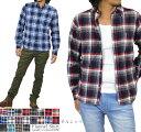 【送料無料】ネルシャツ メンズ チェックシャツ 長袖シャツ チェックネルシャツ フランネルシャツ 大きいサイズ 3L(XXL)4L(XXXL)まで展開 カジュアルシャツ 長袖 チェック柄 起毛 綿ネル