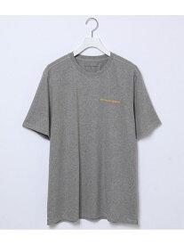 【POP TRADING COMPANY】logo t-shirt ADAM ET ROPE' HOMME アダムエロペ カットソー カットソーその他 グレー【送料無料】[Rakuten Fashion]