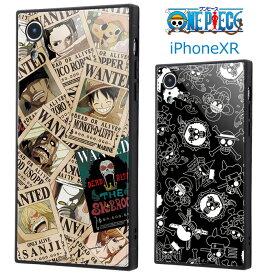 iPhoneXR ワンピース 耐衝撃 ガラス ケース ハイブリッド ガラス ソフトケース ハードケース キャラクター グッズ ONE PIECE ルフィ チョッパー ゾロ ナミ ウソップ ロビン サンジ アイフォン テンアール 6.1 iphone xr iPhoneXRケース スマホカバー スマホケース s-in_7b137
