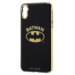 iPhoneXR DCコミックス バットマン メタル ソフト ケース カバー ソフトケース ハード ハードケース メタリック 背面ケース スリム シンプル キャラクター グッズ ロゴ BATMAN アイフォン テンア