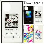 iPhone11ディズニースクエア耐衝撃ガラスケースカバーハイブリッドソフトソフトケースハードハードケースキャラクターグッズミッキーミニーミッキー&ミニー6.1inchiphone11アイフォンイレブンアイフォン11スマホカバースマホケースs-pg_7c026