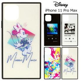 iPhone11ProMax ディズニー スクエア 耐衝撃 ガラス ケース カバー ハイブリッド ソフト ソフトケース ハード ハードケース キャラクター グッズ ミッキー ミニー 6.5inch iphone 11 pro max アイフォン イレブン プロ マックス スマホカバー スマホケース s-pg_7c031