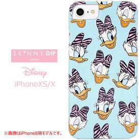 iPhoneXS iPhoneX SKINNYDIP ディズニー ケース カバー スキニーディップ ソフト ソフトケース ハード ハードケース キャラクター グッズ デイジー デイジーダック ドナルド アイフォン アイフォンxs iphonsxsケース iphone xs x スマホカバー スマホケース s-se_7c544