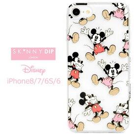 iPhone8 iPhone7 iPhone6S iPhone6 SKINNYDIP ディズニー ミッキーマウス クリア ケース カバー スキニーディップ ソフト ソフトケース ハード ハードケース キャラクター グッズ ミッキー アイフォン iphons8ケース iphone 8 7 6s スマホカバー スマホケース s-se_7c554