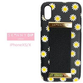 iPhoneXS iPhoneX SKINNYDIP デイジー ストラップ PUレザー ケース カバー スキニーディップ ソフト ソフトケース ハードケース シンプル ホルダー マーガレット 花柄 iphone xs x アイフォン テンエス iphonexsケース スマホカバー スマホケース s-se-7d802