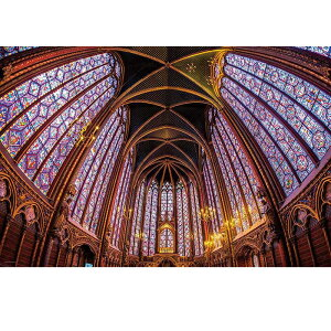 最古の輝きサント・シャペル フランス サント・シャペル ジグソーパズル 1000ピース ジグソー パズル Puzzle 海外 世界遺産 風景 写真 ステンドグラス 観光地 ギフト プレゼント 誕生日 贈り物