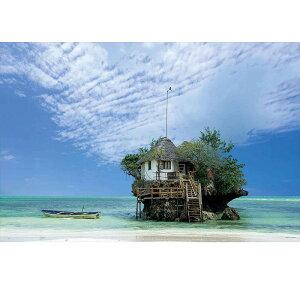 南の島のレストラン タンザニア ジグソーパズル 1000ピース ジグソー パズル Puzzle 南アフリカ 水上レストラン 海外 風景 写真 自然 海 青空 雲 ギフト プレゼント 誕生日プレゼント 贈り物 ク