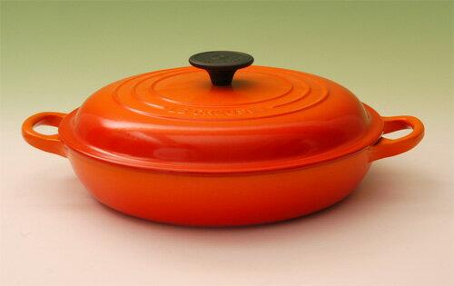 ル・クルーゼ ( LE CREUSET ルクルーゼ ) ビュッフェキャセロール26cm(2532-26)<オレンジ>[正規日本仕様]【 アドキッチン 】