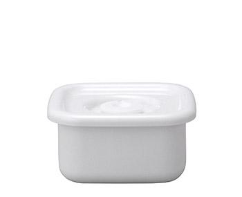 野田琺瑯 野田ホーロー ホワイトシリーズ スクウェア S 密閉蓋付 ( WSM-S ) ホーロー容器 のだホーロー 日本製