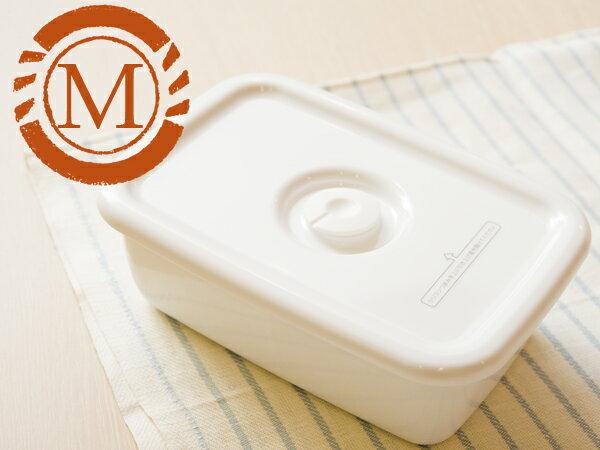 野田琺瑯 野田ホーロー ホワイトシリーズ レクタングル深型 M 密閉蓋付 ( WFM-M ) ホーロー容器 のだホーロー 日本製