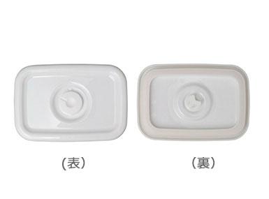 野田琺瑯 野田ホーロー ホワイトシリーズ 密閉蓋 ( 単品 ) レクタングル深型 M用 ( MFF-M ) ホーロー容器 のだホーロー 日本製