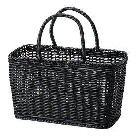 かごバッグ カゴバッグ 水着 浴衣 プラスチック カゴ 手提げ トートバッグ PP湯かご 大 91-17 [ ブラック ] レジャー アウトドア