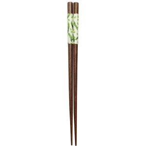 【メール便5本まで対応可能】イシダ お箸 六角京野菜さやえんどう 23cm 11615