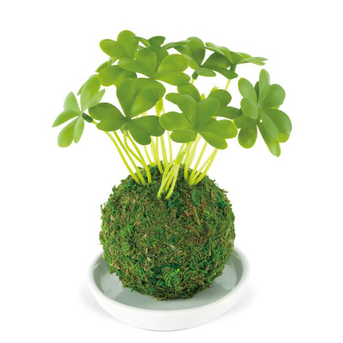 消臭アーティフィシャルグリーン 和盆栽 WA BONSAI ARTIFICIAL GREEN KH-61059 Clover シロツメクサ KISHIMA キシマ 観葉植物 CT触媒