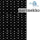 [ 1.5mまで メール便 送料無料 ] マリメッコ marimekko MUIJA ムイヤ コーティング生地 ブラック ( 30cm以上〜10cm単…