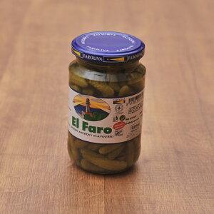 【当店おすすめ食材】El Faro ペピニージョス (西洋きゅうりのピクルス) (瓶)   《food》<350g>  【Pepinillos】【 ※ご注文後のキャンセル・返品・交換不可。 】