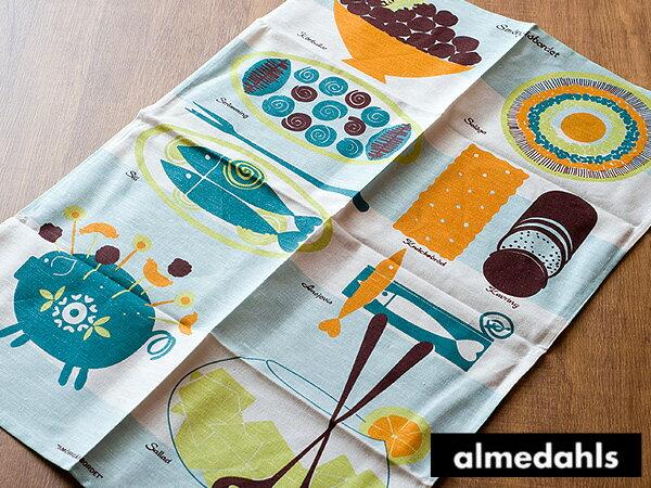 《3点までメール便可能》アルメダールス ( almedahls ) キッチンタオル ( 02044 ) < ビュッフェテーブル/ブルー >【 アドキッチン 】