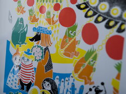 **MOOMIN/ムーミンカラーミニポスター【moomin/北欧/PUTINKI/プティンキ】<回転ブランコ>