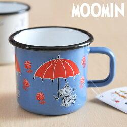 **MOOMIN/ムーミンホーロー製マグムーミンマグ370mL【moomin/北欧/muurla/ムールラ/マグカップ/マグ】(1701-30-31)<リトルミイアンブレラ(ブルー)>