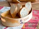 Skandinavisk Hemslojd/ヘムスロイド 木製バスケット 27x17cm【 アドキッチン 】