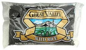 GREAT VALLEY(グレートバレー) ワイルドライス 454g【 ※ご注文後のキャンセル・返品・交換不可。 】