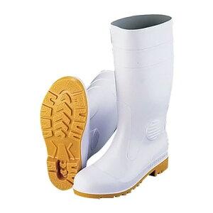 ミドリ 安全長靴ワークエースW1000 (耐油性) 24.5cm <白>【 アドキッチン 】
