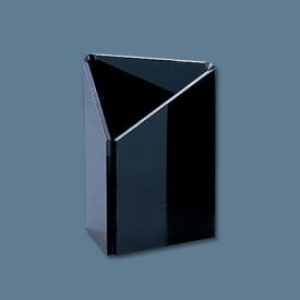 【8/5限定エントリーでP14倍!】えいむ アクリル三角伝票立て DT-8 55×H70mm <黒>