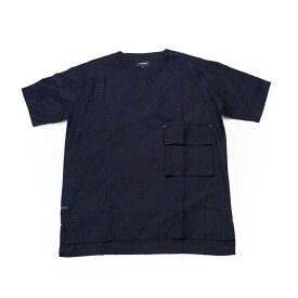 No:DST-B-2020-DB  Name:houndstooth pattern pocket Tee   Color:BLUE   【DYCTEAM ディーワイシーチーム】【DYCTEAM】【2020SS】【MEN'S メンズ】【LADY'S レディース】【ユニセックス】【202002】【ss30】