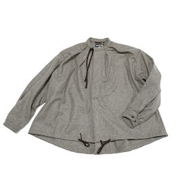 No:M30502 | Name:Military Smock Pullover | Color:Wool Flannel Melange Beige | Size:M/L【MONITALY】【2021AW】